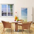 Sencilla de estilo moderno luz de jardín de ratán sintético marrón tejida muebles de jardín, Cómodo jardín mesa de café y sillas ( N113-BBJ )