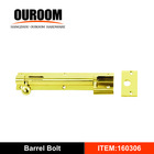 Bright Chrome necked barrel bolt for door