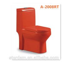color red toilet sanitary ware modern design one piece porcelain color ceramic toilet
