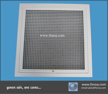 aluminum ventilate egg crate return air grille with frame and fixed core