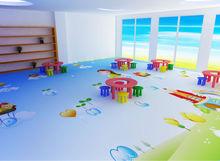 cartoon picture kids/child room PVC vinyl floor