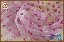 Shiny yarn diamonds jacquard spread on curtain tulle china wholesale