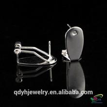 Hot Sale Fashion Custom Made Used Metal brass Fingernail Earring Posts