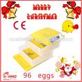最もホットな販売ceは承認された全自動卵の小さい96アヒル卵インキュベーター販売のための