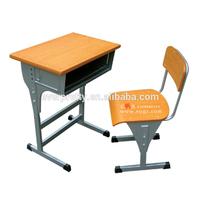 Adjustable single student chair,school single desk,standard classroom desk and chair