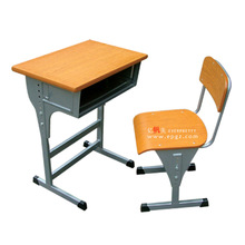 Adjustable single student chair,school single desk,standard classroom desk and chair
