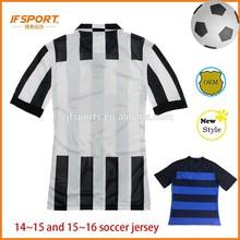 Club 2015 Soccer Uniform Striped Juventus Soccer Jersey Team Jersey Wholesale