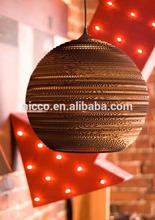 alibaba express interior decoration graypants Scraplights recycled cardboard corrugated paper pendant light