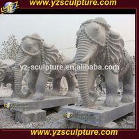 Garden decoration large Marble Elephant Statues