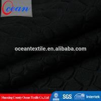 crocodile embossed 3d black fabric