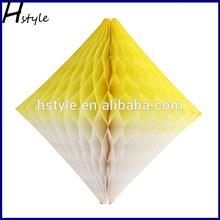 2014 New Design Party Paper Honeycomb Decoration,Hanging Diamond Decoration SD069