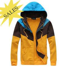 100% poliéster cor bloqueio outono jovens moda quente pesado casaco de lã barata