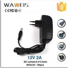 AC power adapter charger 12v 2a LED Strips Light EU Plug Brand Converter Adapter