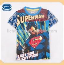 ( C3855 ) cinza 3 - 8 anos de idade as crianças herói impresso camisetas para meninos