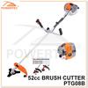POWERTEC 52CC 1700W 2-Stroke Gas Brush Cutter,Grass Trimmer