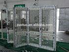Aluminum louver folding shutter door
