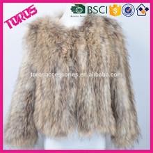 High Quality Lady Fashion Brand Light Brown Nature Mink Fur Coat