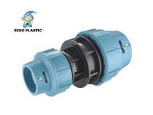 pp compression fittings reducing coupling pp/pe fittings for pipes plastic fittings made in pp irrigation supplier