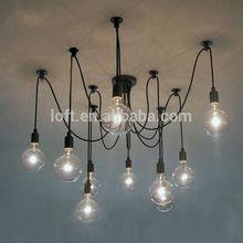 6/8/10 heads rainning flowers home lighting/Iron pendant lamps/glass ceiling light with edison blubs