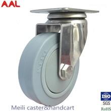 High Quality Various Types Noiseless Ball Bearing Stainless Steel Swivel Caster Wheel