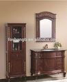 Venda quente de luxo madeira maciça armário espelho do banheiro GB14C-164