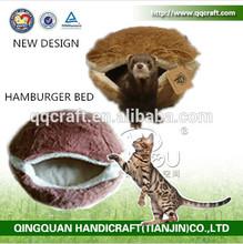 Cat Hamburger Bed & QQPet Luxury Pet Dog Bed & burger bun pet cat bed