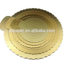 both side golden cake board foil cake boards