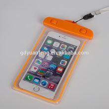 China wholesale luminous waterproof cell phone bag
