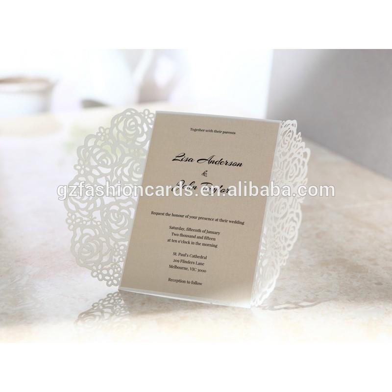 2014 Unique Luxury Laser Cut Wedding Invitation Cards