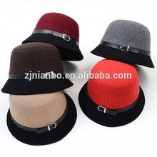 Adult classic wool felt ladies hat, top hat