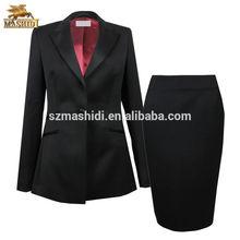 Desempenho elegante business women escritório uniforme modelos de senhoras escritório ternos com saia