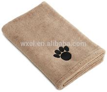 Microfiber dog bath towel for pet clothes