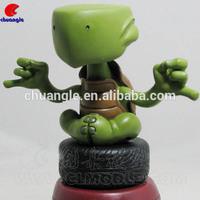 Handmade Turtles Figurine, Cartoon Animal Decor, Resin Turtle Handicraft