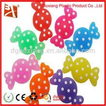 3d wholesale children colorful candy shape rubber badge, pvc brooch, soft pvc badge