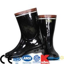 buona qualità riflettenti di sicurezza stivali di gomma per estrazione di lavoro