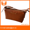 genuine leather cheap woman shoulder purse with long strip