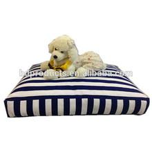 Printing canvas dog mattress stripe pattern pet cushion