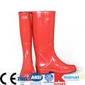 fábrica directamente la venta de buena calidad de color rojo claro botas de goma de primavera verano otoño invierno