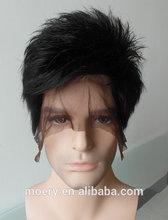 Men Human Hair Wig/Short Hair Wig Men/Lace Wig Men