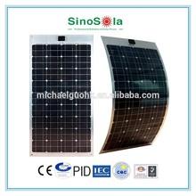 high efficiency light weight semi flexible solar panel Al/ETFE/TPE/BIPV/NEW with TUV/PID/CEC/CQC/IEC/CE