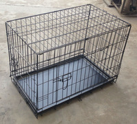 Pet Kennel Cat Dog Folding SS Steel Crate Animal Play Pen Wire Metal Cage