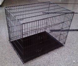 black foldable suitcase wire dog cages for USA market