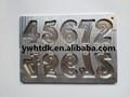 número de vela de metal del molde para las ventas