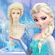 Frozen elsa wig princess anna wig 100% korean heat resistant synthetic wig W403