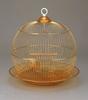 golden color round metal bird cage manufacturing in bulk