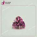 Nome rosa gemsotne 10 mm triângulo forma cubic zirconia jóias