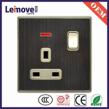 Muti-function electrical switch socket , wall switch and socket , one gang two way light socket