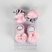 Baby decorations,headband with socks set,0-6M infants socks,fashion baby accessories