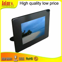 black acrylic frame for photo with hold