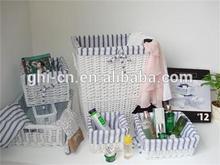 Wicker gift baskets/round honey wicker gift basket (factory supplier)/wholesale pretty wicker basket for gift or flower